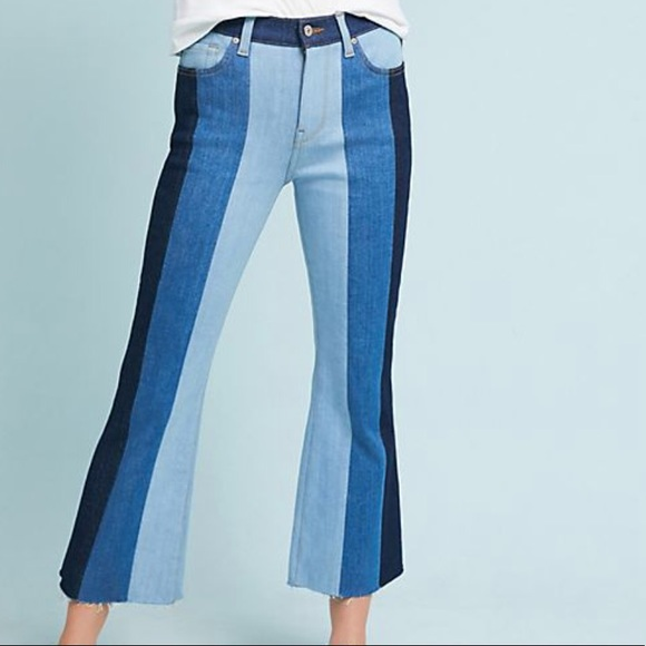 7 For All Mankind Denim - 7 For All Mankind Ali High-Rise Cropped Flare Jean